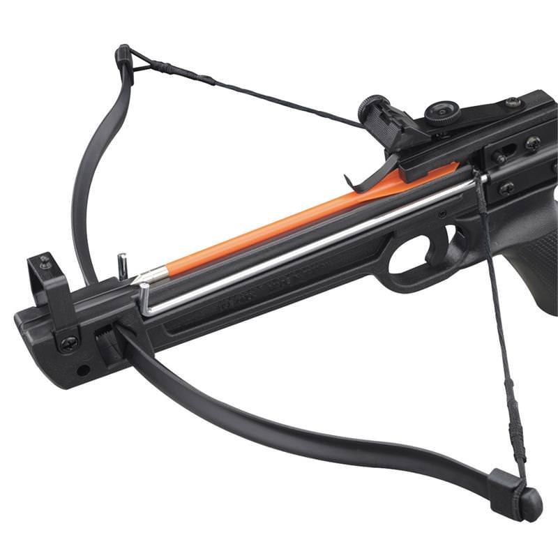50lbs Pistol Fiberglass Crossbow With 5 Arrows