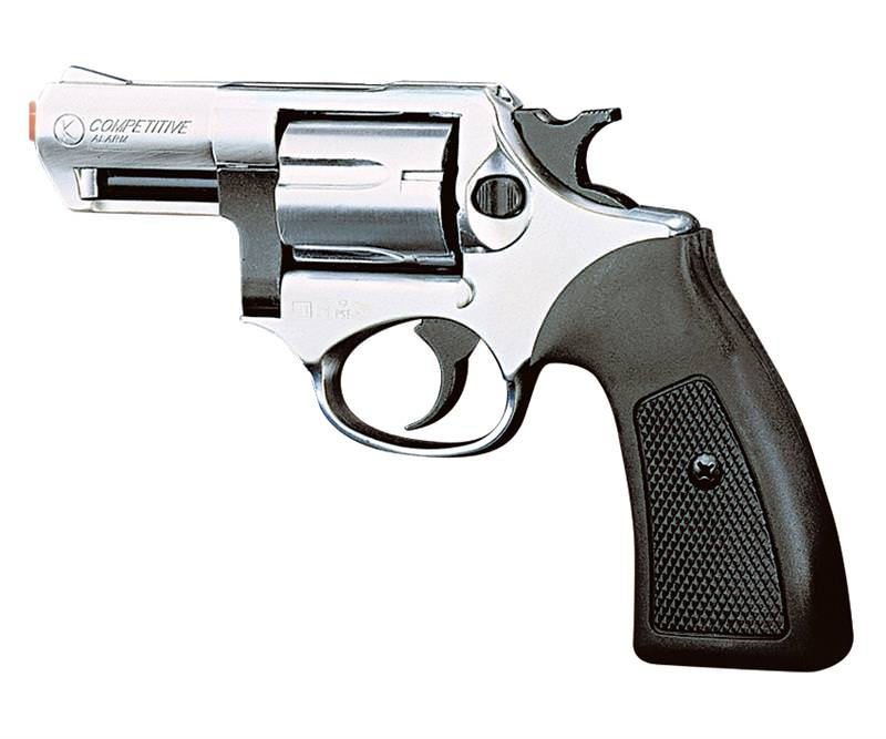 Kimar COMPETITIVE Nickel Finish 9mm Front Firing Blank Revolver 2