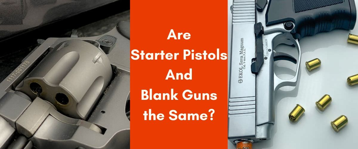 starter pistol and blank guns