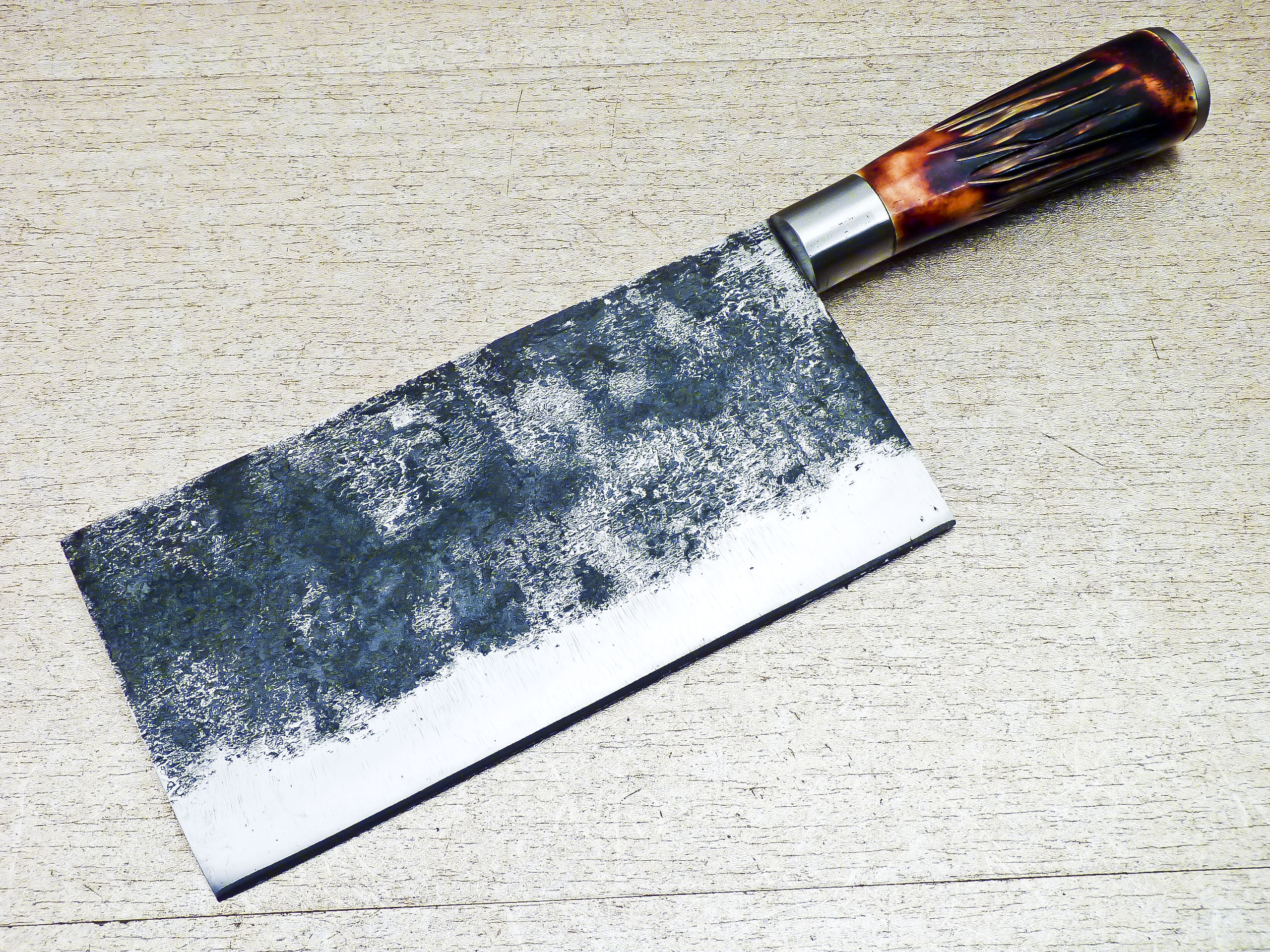 High Carbon Steel Handmade Kitchen Chef Cleaver Knife 13