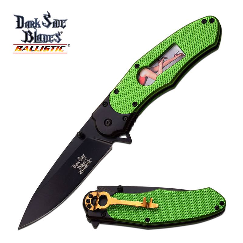 spring assisted knives green