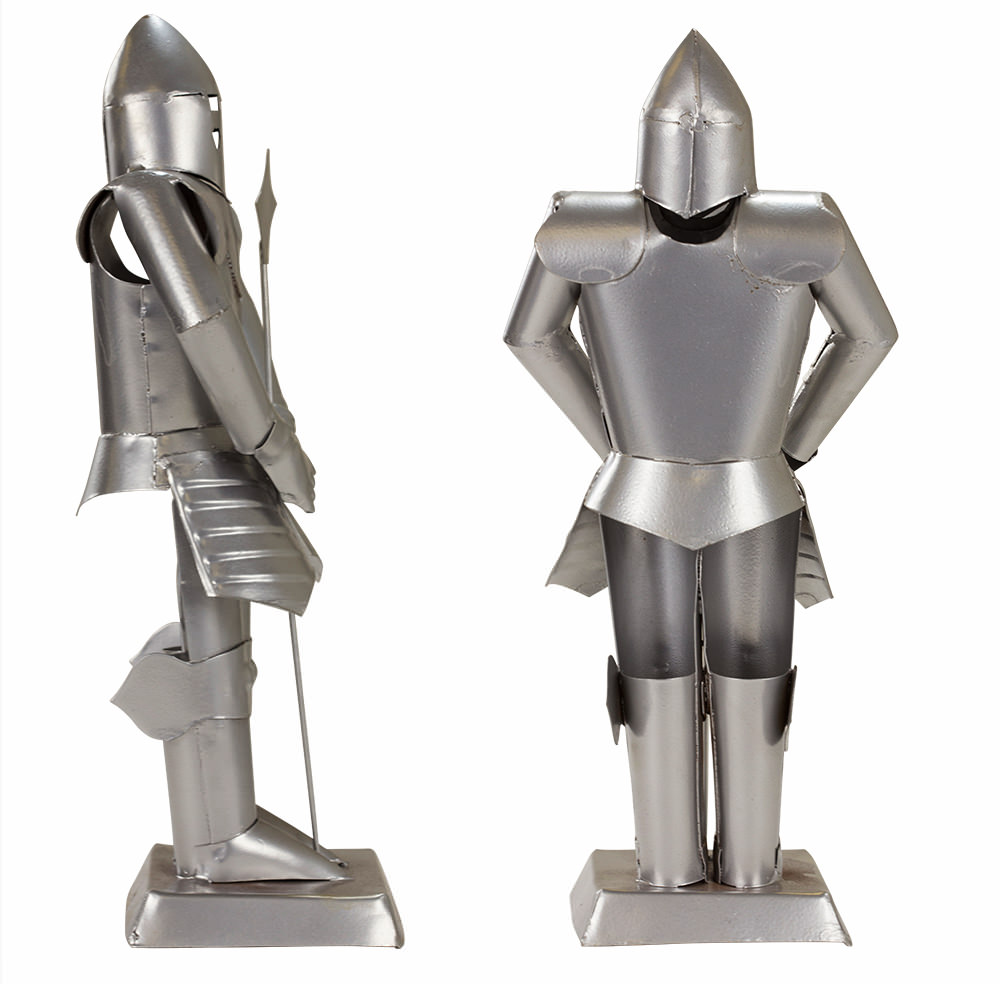 Suit of Armor Medieval Knight Silver Finish Decorative Collectible