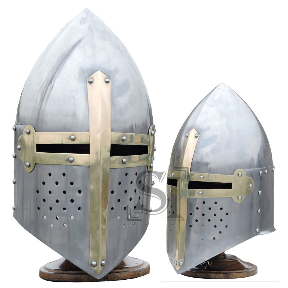 Medieval 18G Knights Sugarloaf Helmet With Stand