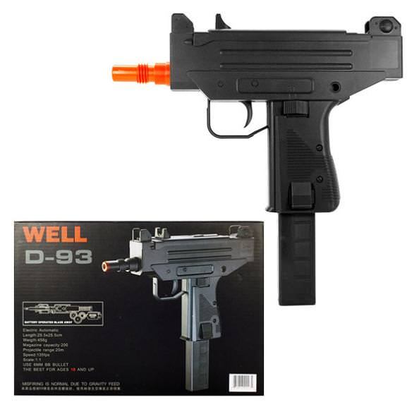Well D93 Airsoft Uzi Style Auto Electric Pistol Discount Knives and