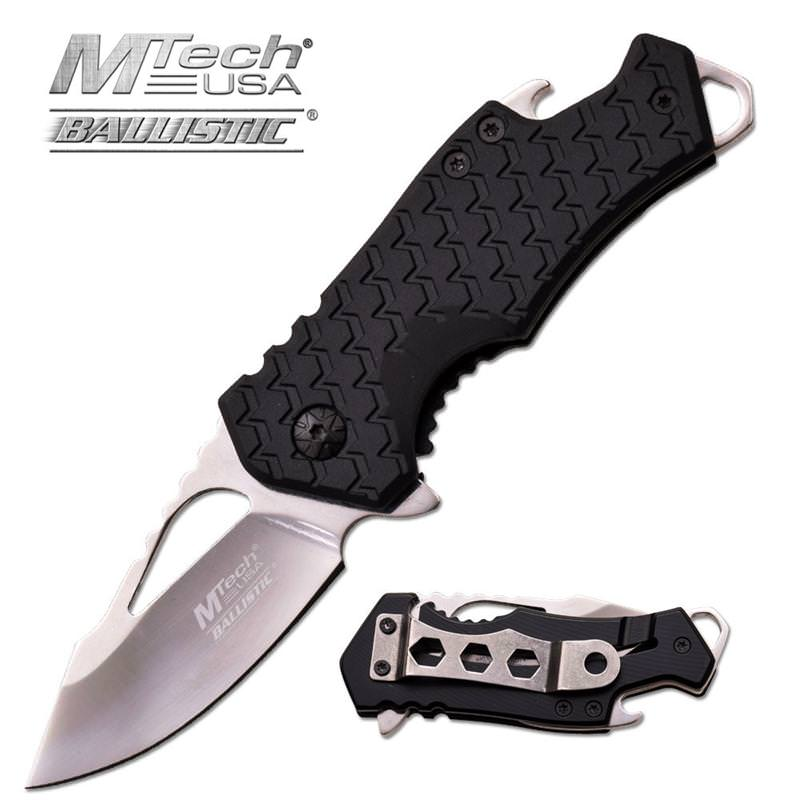 MTech USA 3 Inches Assisted Opening Folder With Black Fiber Handle