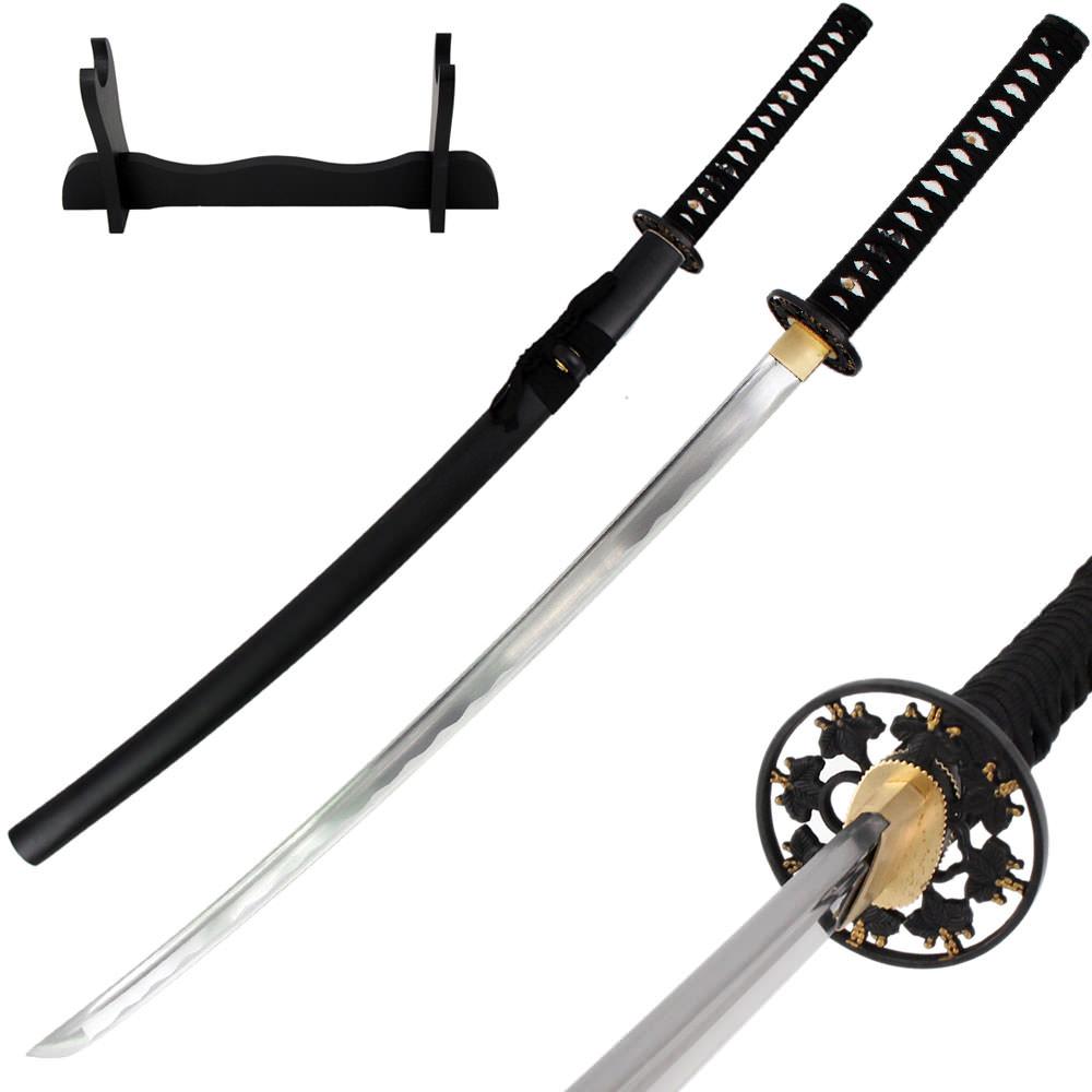 "38/"" Black PP Material Chinese War Martial Arts Katana Practice Training Sword"