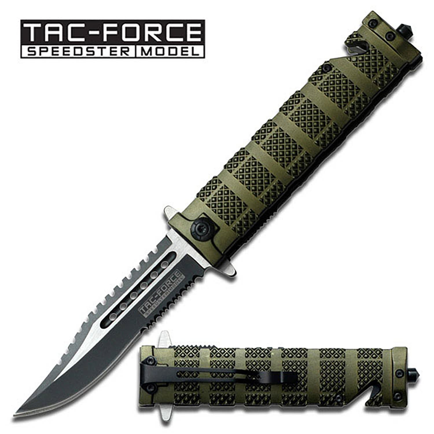Spring Assist - 'Legal Auto Knife' - Green Tactical Fighter