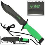 Zombie Killer Green Survival Bowie Knife
