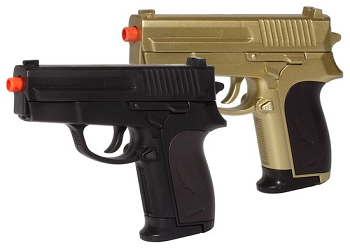 P618GB Black & Gold 2-Pack FPS-135 Spring Airsoft Pistol