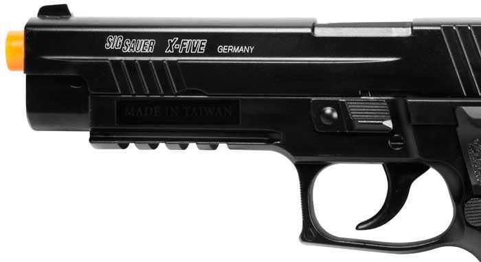 Full Metal Sig Sauer X-Five P226 CO2 Blowback Handgun 6MM Airsoft Pistol