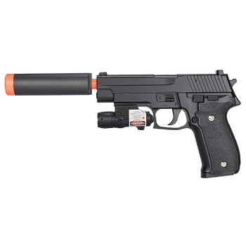 G26A FPS-250 226 Metal Spring Airsoft Pistol With Red Dot Laser