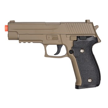 G26D Airsoft Metal 226 Spring Pistol - DARK EARTH Shoots 280 FPS
