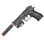 P2218C M1911 Spring Pistol Airsoft Gun With Laser and Suppressor