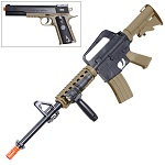Colt M4 RIS Airsoft Rifle and 1911 Airsoft Pistol Spring Kit - 6mm BB Gun