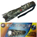 ELITE FORCE Stun Gun 10 Million Volt Rechargeable LED Flashlight Snow Camo