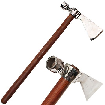 17.5 Inches Traditional Peace Pipe Axe