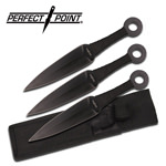 3 Pcs Kunai Throwing Knives Set With Sheath - 9 Inches Overall