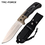 10 Inch Fixed Blade Tactical Knife Tan G10 and Micarta Handle