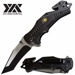 Day Zero Survival Spring Assist Military Army Rescue Folding Pocket Knife