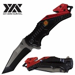 Day Zero Survival Spring Assist Rescue Fire Fighter Folding Pocket Knife