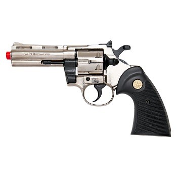 Kimar PYTHON Nickel Finish 9mm Front Firing Blank Revolver