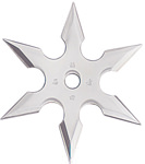 6-Point Stainless Steel Throwing Star with Pouch - 4