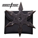 Stonewash Grey 6-Point Shuriken Anime Ninja Throwing Star