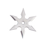 Silver Stainless Steel 6-Point Shuriken Anime Ninja Throwing Star - 2.75