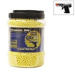 Ultrasonic 10,000ct Yellow BB Jar with Free Clear Colt .25 Spring Pistol