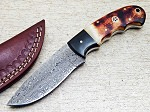 Damascus Steel Custom Handmade Hunting Knife 8