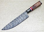 Damascus Steel Custom Hand Made Hunters  Kitchen Chef Knife 13.25