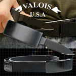 Adjustable Nylon Belt Black Pakkawood Buckle With Hidden Knife