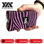 DZS 10 Million Volt Self Defense Pink Zebra Print Stun Gun Rechargeable