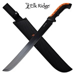 Elk Ridge 23 Inch Full Tang Fixed Blade Machete Knife Plain Blade