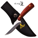 Elk Ridge Fixed Blade Hunting Skinning Knife Pakkawood Handle