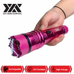 DZS Elite Force Stun Gun All Metal 10 Million Volt Rechargeable + LED Flashlight - Pink