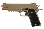 Full Metal 1911 Dark Earth Airsoft Training Pistol 210 FPS Gun