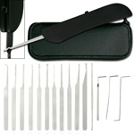 15 Piece Lockpick Set with Leather Pouch