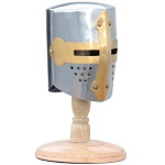 Mini Knight Crusader Helmet With Display Stand