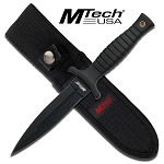 Black Dagger Double Edge Blade Belt Boot Knife 9 inch