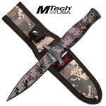 Fixed Blade Double Edge Digital Camo Combat Knife With Nylon Sheath