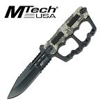 10.5 Inch Mtech Fixed Blade Digital Camo Knuckle Handle Knife