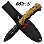 MTech USA Fixed Blade Knife 9 Inches With Army Green Handle