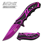 Mtech 3.5 Inch Closed Purple Blade Assisted Opening Folding Knife