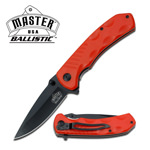 Orange Drop Point Blade Spring Assisted Folding Pocket Knife