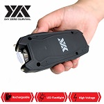 DZS Rechargeable Self Defense Mini Stun Gun With LED FlashLight