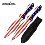 American Flag 8 Inch 2 Piece Throwing Knives