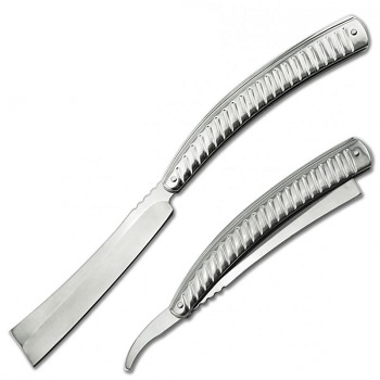 Straight Blade Barber Razor Folding Pocket Knife Shaving Cutlery