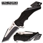 Spring Assist - 'Legal Auto Knife' - Black Tactical Fighter