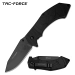 Black Skull Blade Military Tactical EDC Spring-Assist Folding Pocket Knife